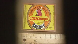 OLD-SPAIN-SPANISH-BEER-LABEL-ETIQUETA-DE-CERVEZA-LA-CRUZ-DEL-CAMPO-SHANDY