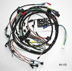 new! 1966 ford mustang under dash complete wire harness ... 1996 toyota corolla under the dash fuse box car wiring diagram