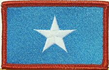 SOMALIA Flag Iron-On Tactical Morale Patch Red Border #08