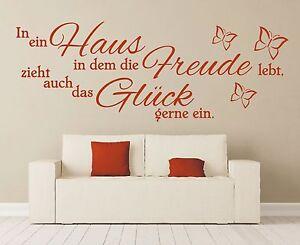 Wandtattoo-Spruch-In-ein-Haus-Glueck-Freude-Wandsticker-Wandaufkleber-Sticker-2