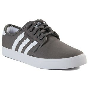 fee0d4785d05 Image is loading Adidas-SEELEY-Mid-Cinder-Running-White-Black-Skateboarding-