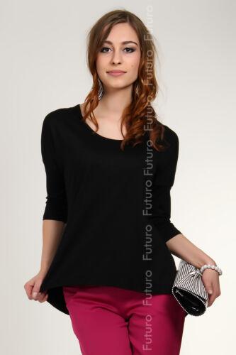 Womens Top Sensible Asymmetric Blouse Office Tunic 3//4 Sleeve Size 8-12 8031