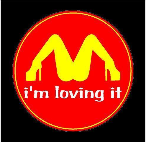 I'm loving it McDonalds Funny Car Truck Bumper Sticker Decal