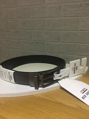 Ben Sherman Mens Belt Black Leather New Genuine Size L