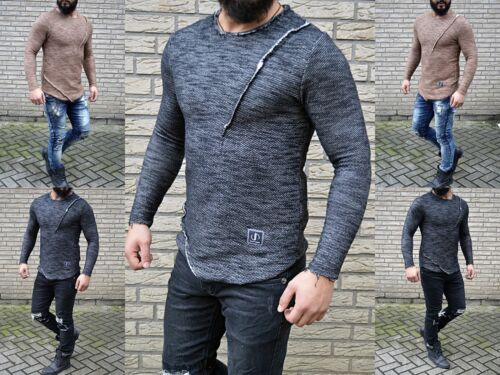 Pull The Destroyed Hommes Clubwear Partyshirt Longues Manches À Vip Look Fashion 4wqaOO
