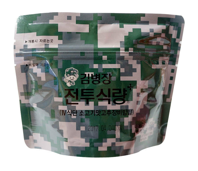 Military Outdoor Leisure Emergency Rice Food Combat C Ration MRE Bibimbap Beef