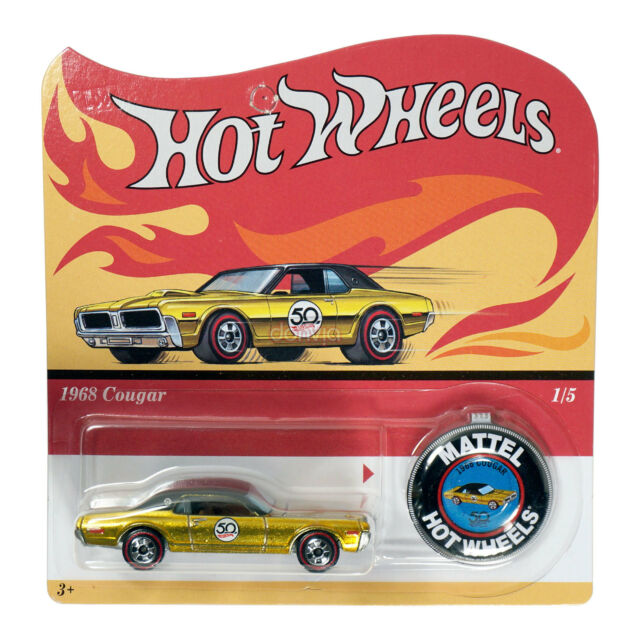 Hot Wheels 2018 50th Anniversary Redline Replica 1968 Cougar Die-Cast
