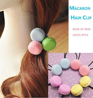 Super Cute Lolita Macaron Hair Clip Hair Band Harajuku Kawaii Ice-cream 10 Color