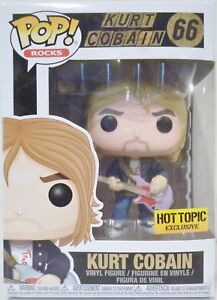 "Kurt Cobain Nirvana Pop Rocks 4/"" VINYL FIGURE #66 Hot Topic Funko exclusives 2018"