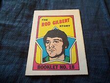 1971-72 OPC O-Pee-Chee Booklet #18 Rod Gilbert New York Rangers - nrmt