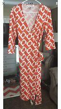 Diane Von Furstenberg DVF Vintage Wrap Dress size 8
