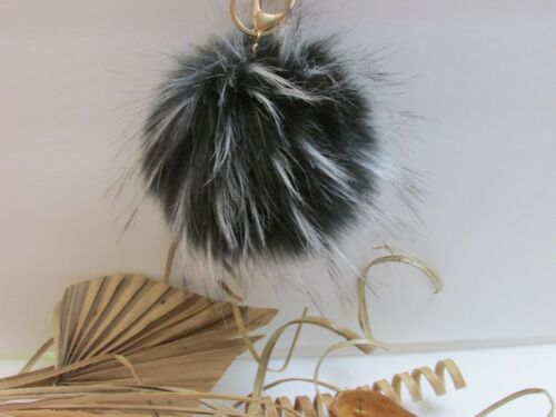 Big Size 14cm Faux Fur Pompom Keychain Purse Pendant Bag Charm US SELLER