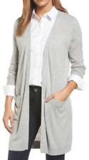 7af7fc14e144 Halogen Long Open Front Cardigan Grey Heather XXL (with Cashmere)