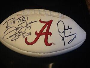 Dabo Swinney & Jay Barker Signed Alabama Crimson Tide Football 92' Team Legends!
