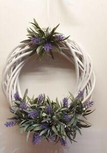 Handmade artificial flower wicker door wreath 25cm 10inch