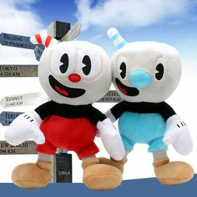 10/'/' Cuphead Game Plush Toy Cuphead /& Mugman Mecup And Brocup Lovely Doll USA