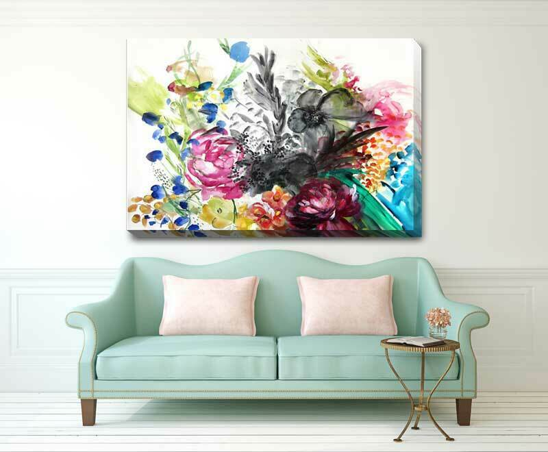 Secret Garden Flower Stretched Canvas Print Framed Wall Home Office Decor  F90
