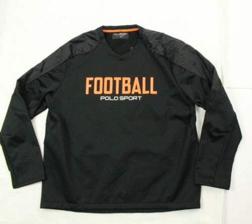 Lauren Polo Football Sweatshirt Ralph Black Micro M menns 889425556206 fleece Størrelse dItIwq