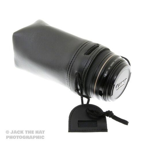 de 75 mm X 90mm ACOLCHADO BOLSA CORDÓN AJUSTABLE Top Calidad Lente de cámara caso etiqueta de identificación