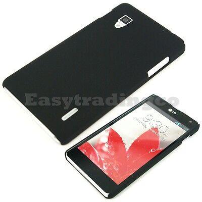 Black Hard Back Cover Case for LG Optimus G E973 E975