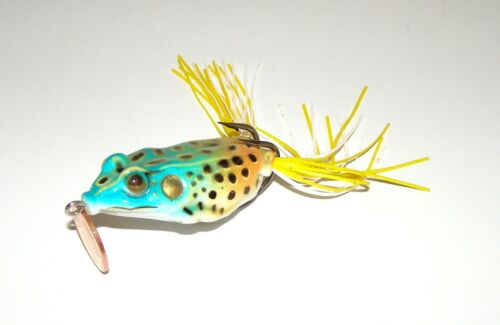 Topwater Blue-Green Brown Life-Like Frog Fishing Lure Bait Tackle 4 Big Fish NEW