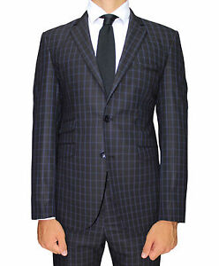 Black-Check-Superior-Semi-Slim-Fit-Suit-with-Double-Pocket-Detail
