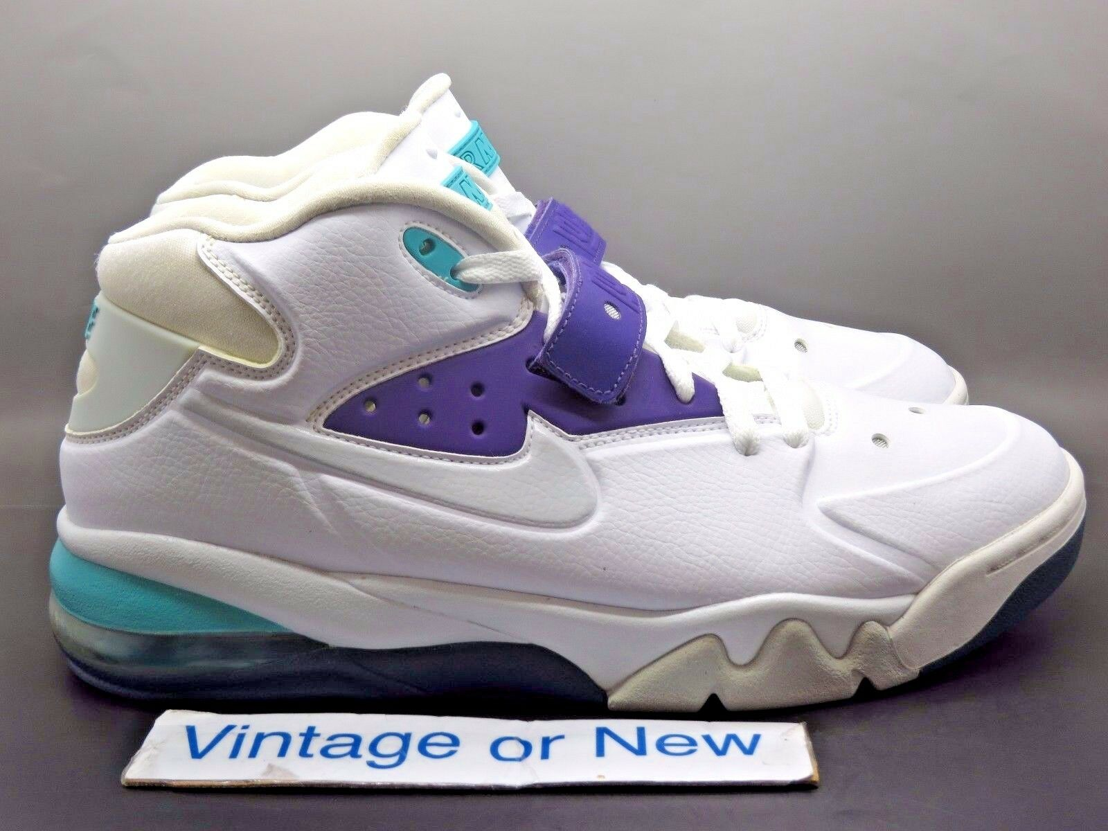 Nike Air Force Max White Ultraviolet Pure Platinum Barkley 2013 sz 10