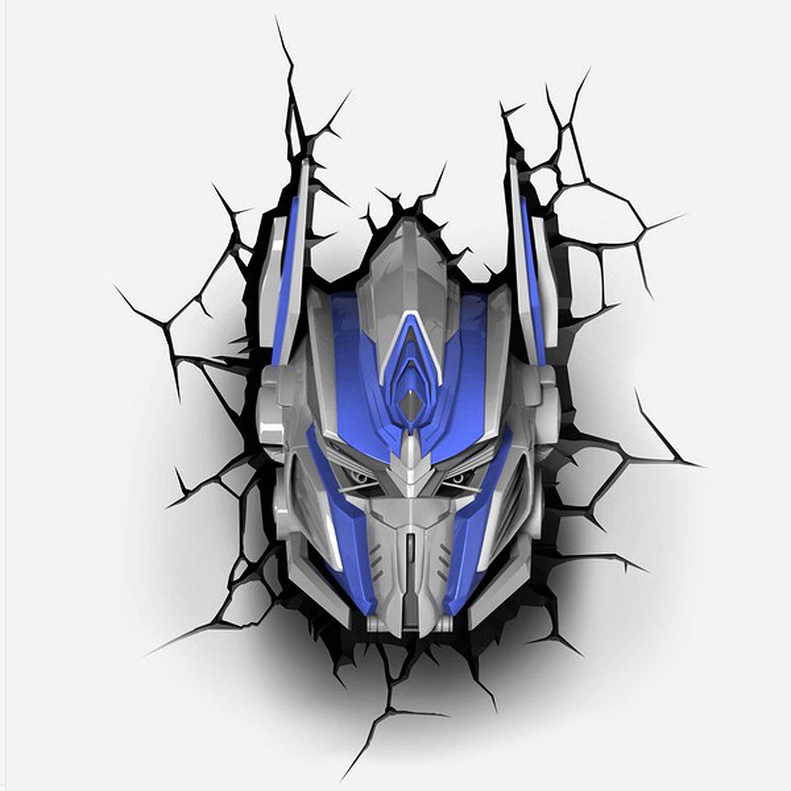 top Transformers Optimus Prime Autobot 3D FX Deco LED Nachtlicht Wandlampe NEU