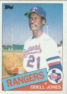 FREE-SHIPPING-MINT-1985-Topps-29-Odell-Jones-Rangers-PLUS-BONUS-CARDS