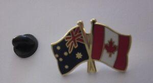 Image Is Loading Australia Amp Canada Flags Friendship Flag Pin Badge