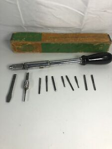Greenlee Spiral Ratchet Yankee Screwdriver No.458 w/Original Box & Accessories