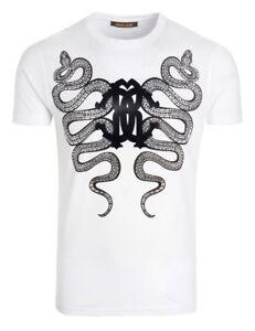 c71eeb5b Roberto Cavalli Men's White Graphic Cotton Short Sleeve T-Shirt | eBay