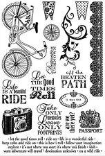 Bike Florish BEAUTIFUL Set Cling Unmounted Rubber Stamps Darcies JCS0160 NEW