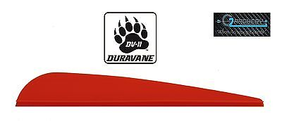 "4.0"" Pkg 100 ***when Accuracy Counts*** Products Hot Sale Dv-ii Duravane Vanes Fire Red"
