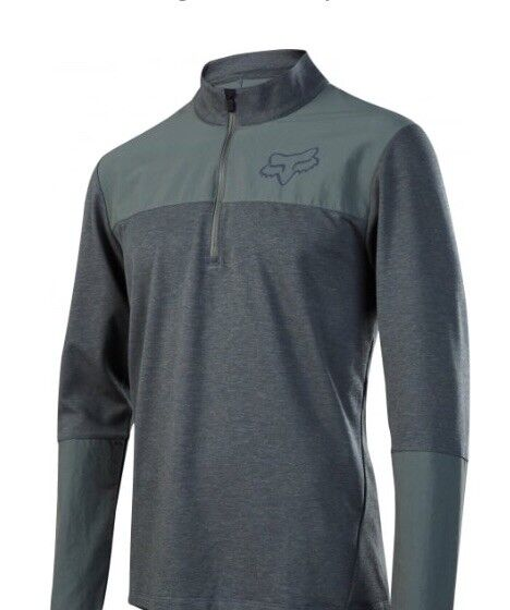 Fox Indicator Jersey Long Sleeve Thermal, Dark Green, Size Large, Brand New