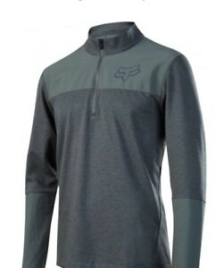 Fox-Indicator-Jersey-Long-Sleeve-Thermal-Dark-Green-Size-Large-Brand-New-65