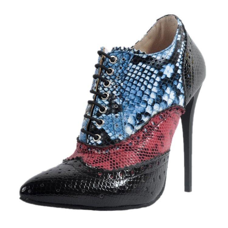 Mujer señoras del tobillo Puntera en en en Punta con Cordones botas Zapatos Stiletto Hee Fiesta Alto Talla  buscando agente de ventas