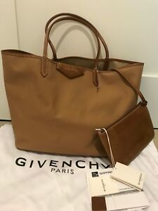 14ec4458e1c5 Image is loading Givenchy-Antigona-Medium-Beige-Canvas-amp-Leather-Tote-