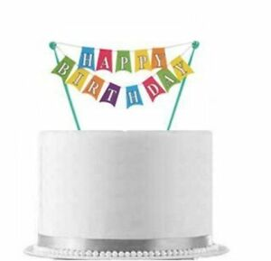 happy birthday banner cake topper ebay