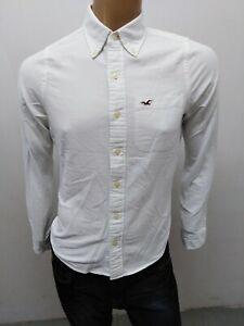 Camicia-HOLLISTER-UOMO-Taglia-size-S-shirt-man-chemise-maglia-polo-cotone-5295