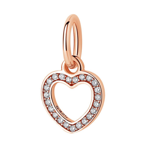 Authentic 925 sterling silver Family Love Rose Gold charm suit Pendora bracelets