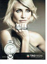 PUBLICITE ADVERTISING 027  2012   montre Tag Heuer Link lady   Cameron Diaz
