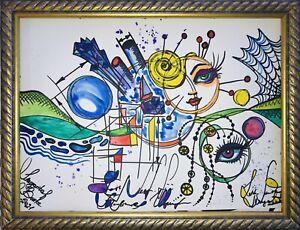Margarita-Bonke-Malerei-PAINTING-Street-Art-Abstrakt-Abstract-Suerrealismus-A3-Nu