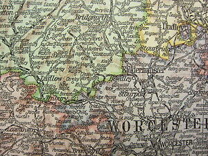 Map Of England South.Details About 1919 Large Map England Wales South Devon Cornwall London Inset Channel