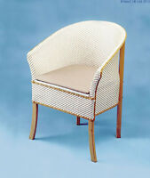 Deluxe Traditional Basketweave Lloyd Loom Wicker Commode Chair Discreet Toilet
