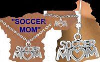 Soccer Mom Mother School Net Ball Goal Kick Team Women College Cap Sport Jewelry