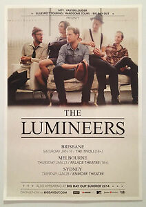 THE-LUMINEERS-2014-Australian-Tour-Poster-A2-Hey-Ho-Winter-Big-Day-Out-NEW
