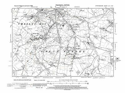 Old Map of Cheslyn Hay in 1938- Repro 57 NW Great Wyrley Staffordshire