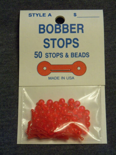 Style A 2 Hole 50 Pack Bobber Stops /& Beads