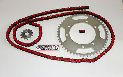 SX Racing 2006 à 2013 Kit Chaine Renforcé 14x53 Rouge Aprilia 50 RX
